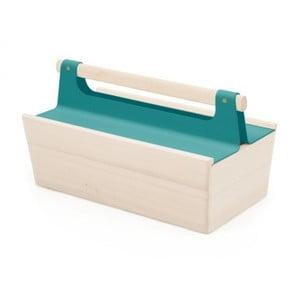 Modrý úložný box z jasanového dřeva na nářadí HARTÔ