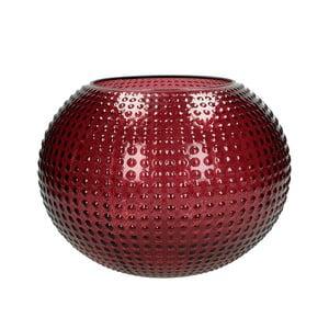 Červená skleněná váza HF Living Taylor