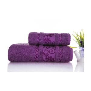 Sada 2ks ručníků Carmen Purple, 50x90 a 70x140 cm