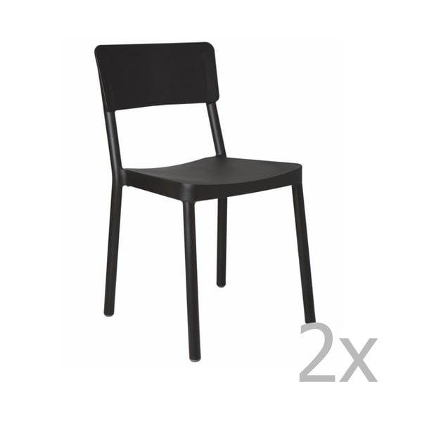 Lisboa fekete kerti szék, 2 darab - Resol