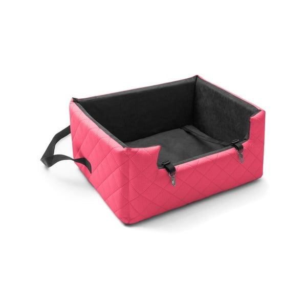 Červená přepravní taška pro psa do auta Marendog Travel, 50 x 57 x 25 cm