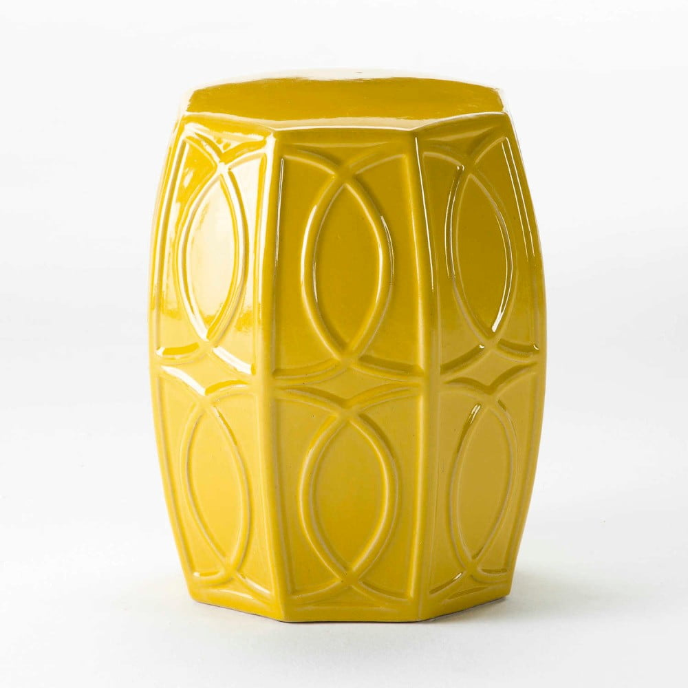 Žlutá keramická stolička Thai Natura