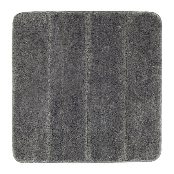 Tmavě šedá koupelnová předložka Wenko Steps, 55x65cm