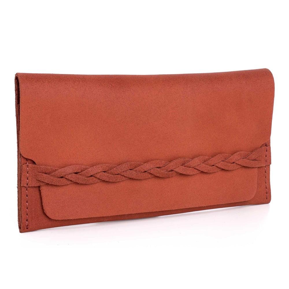 Cihlově oranžová kožená peněženka Woox Efferta Cinnamonea
