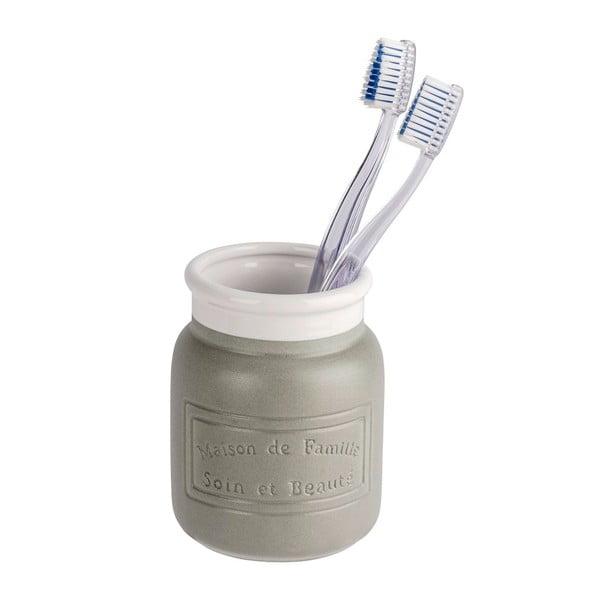 Maison szürke-fehér kerámia fogkefetartó pohár - Wenko