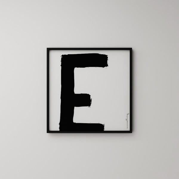 Plakát Litera E, 50x50 cm
