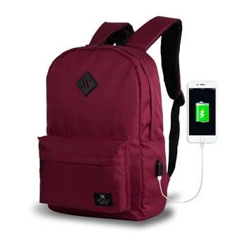 Rucsac cu port USB My Valice SPECTA Smart Bag, vișiniu de la Myvalice