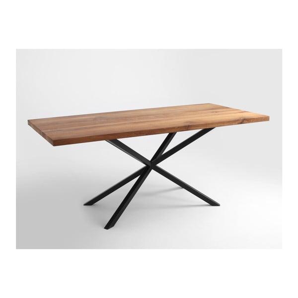 Jídelní stůl s deskou z dubového dřeva Custom Form Orion,180x90cm
