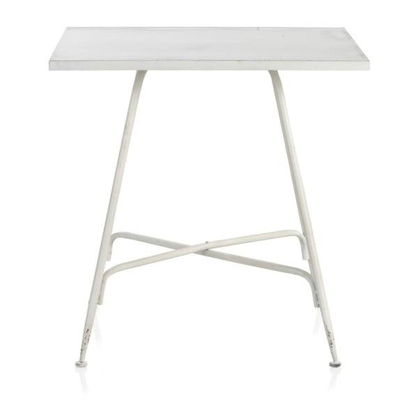 Masă de bar din metal Geese Industrial Style, 80 x 80 cm, alb