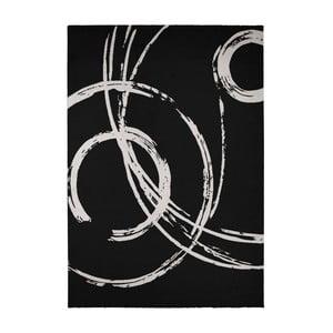 Bílo-černý koberec Calista Rugs Madrid, 135x190cm