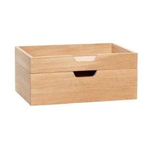 Cutie depozitare cu 2 compartimente din lemn de stejar Hübsch Ansgar