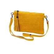 Žlutá kabelka z pravé kůže Andrea Cardone Michele