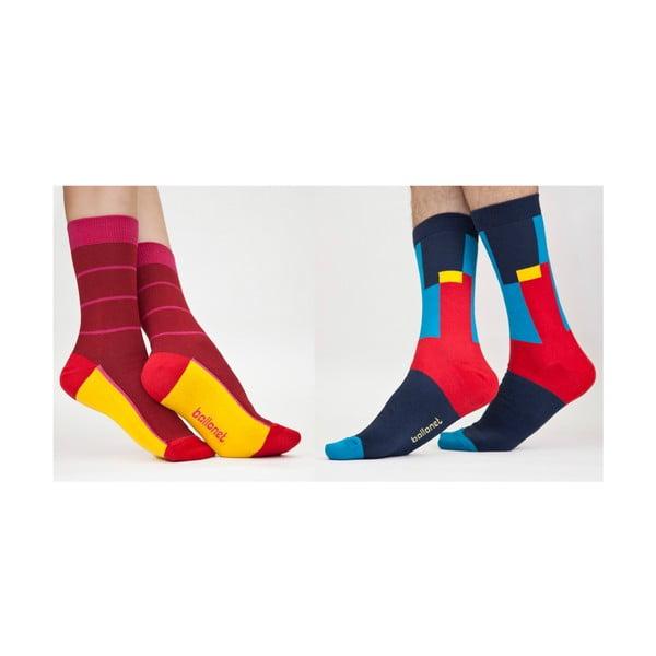 2 páry ponožek Ruler, velikost 36-40