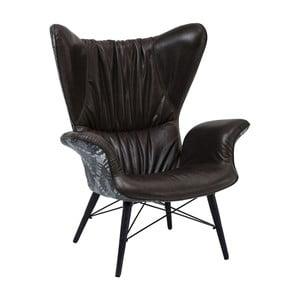 Fotoliu din piele Kare Design Wall Street, negru