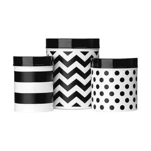 Sada 3 boxů Premier Housewares Domino BW