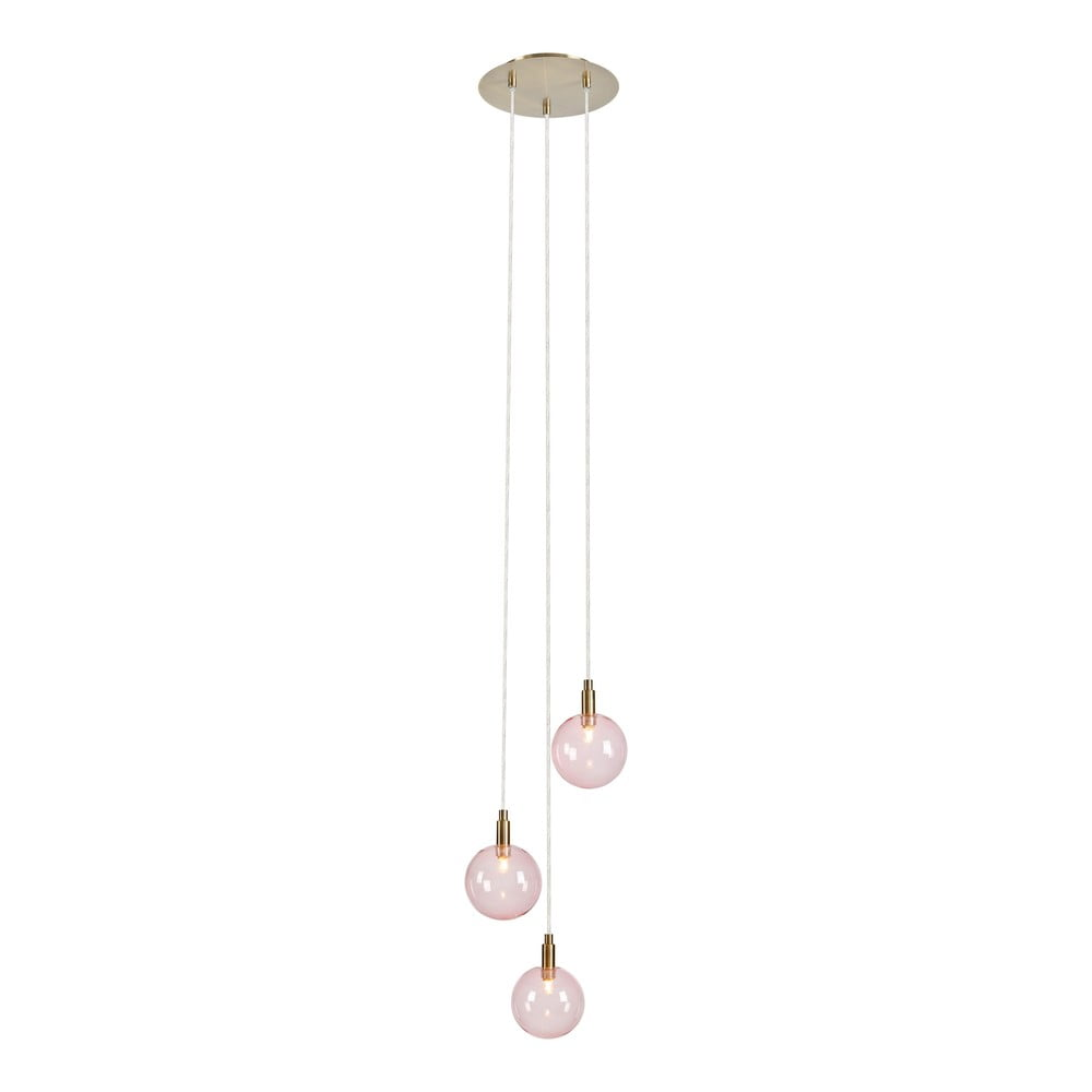 Růžové závěsné svítidlo Markslöjd Uno Pendant 3L