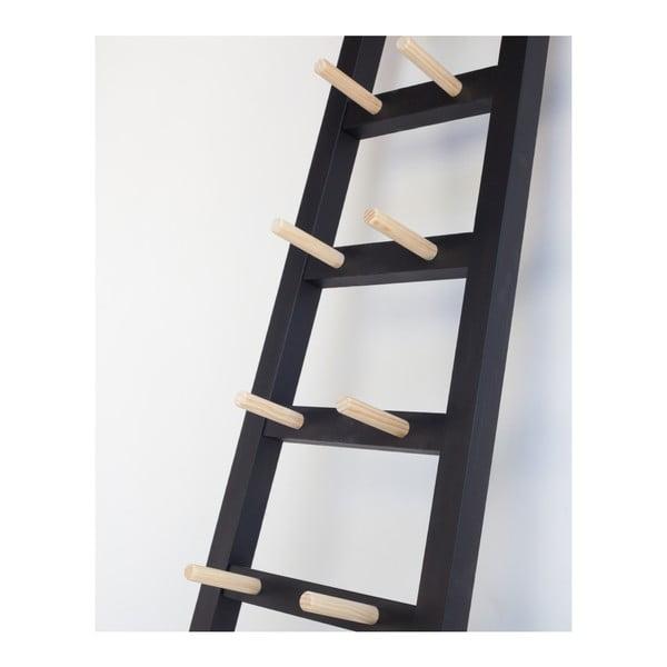 Černý odkládací dekorativní žebřík z borovicového dřeva Surdic Negro