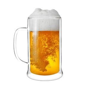 Dvojitá sklenice na pivo Amo Vialli Design, 500ml