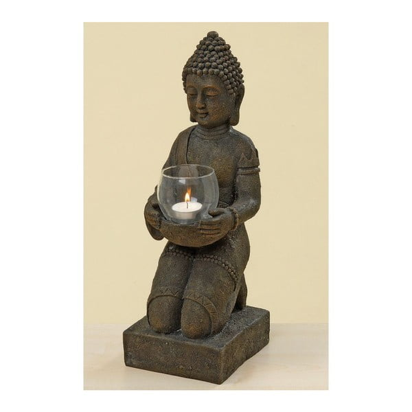 Šedý svícen Boltze Budhha