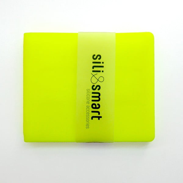 Silikonová peněženka Sili Guy Smart, žlutá