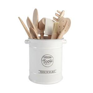 Recipient din ceramică pentru ustensile de bucătărie T&G Woodware Pride of Place, alb