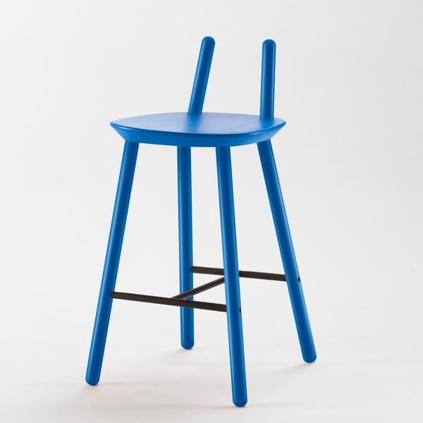 Modrá  barová židle z masivu EMKO Naïve