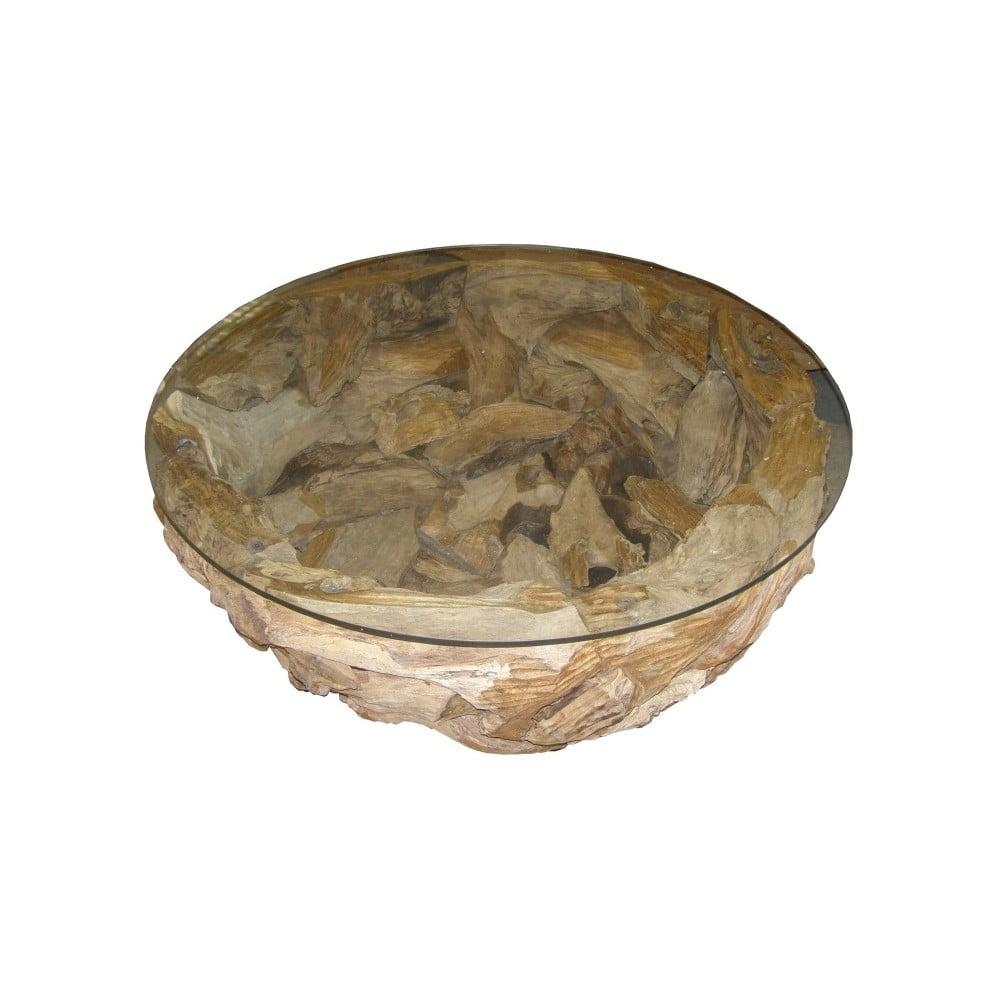 Konferenční stolek z teakového dřeva HSM collection Mara, ⌀ 80 cm