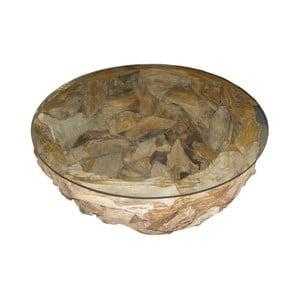 Konferenční stolek z teakového dřeva HSM Collection Mara,80cm