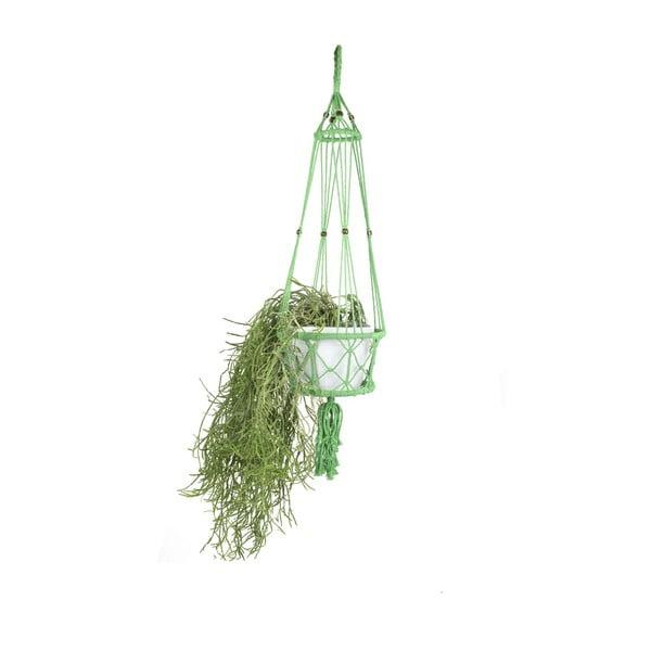 Závěsný držák na květináč Macrame Verde, 25 cm