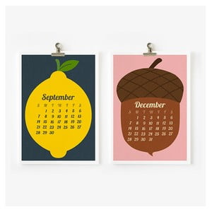 Kalendář na rok 2014 - Retro Fruit and Vegetable