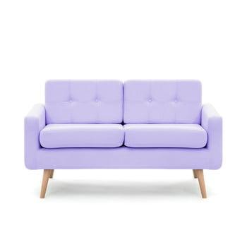 Canapea pentru 2 persoane Vivonita Ina, violet pastel de la Vivonita