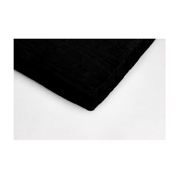 Cearceaf din micropluș My House, 180 x 200 cm, negru
