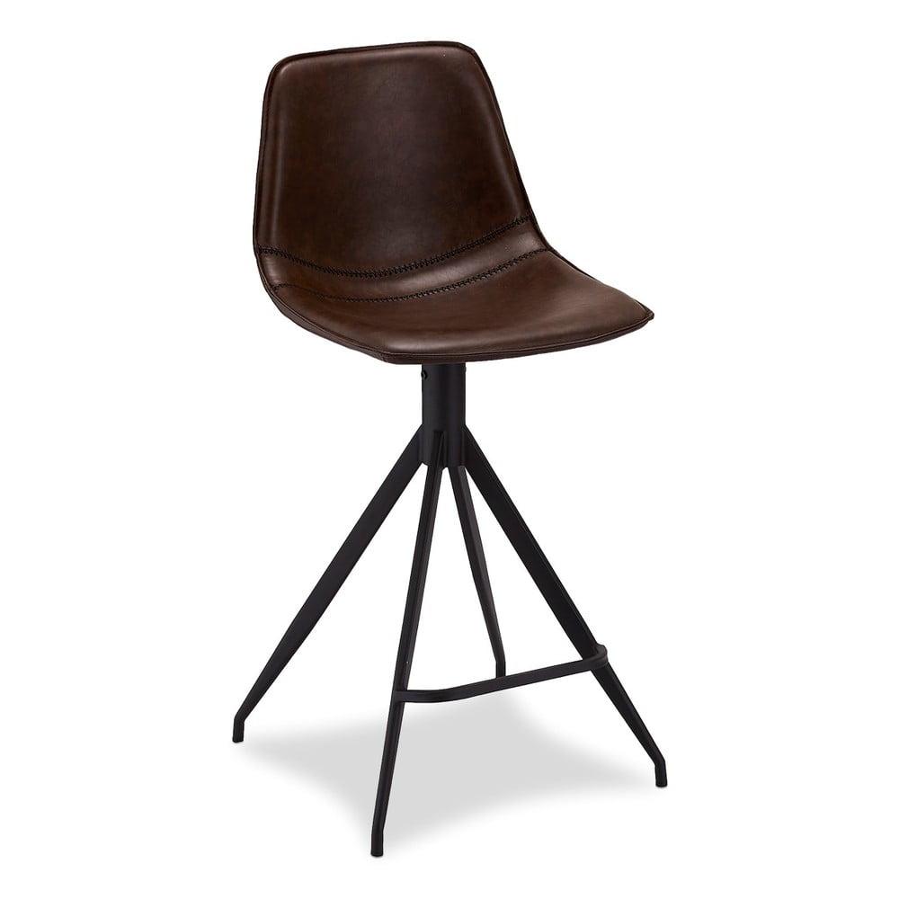Sada 2 tmavě hnědých barových židlí Furnhouse Isabel