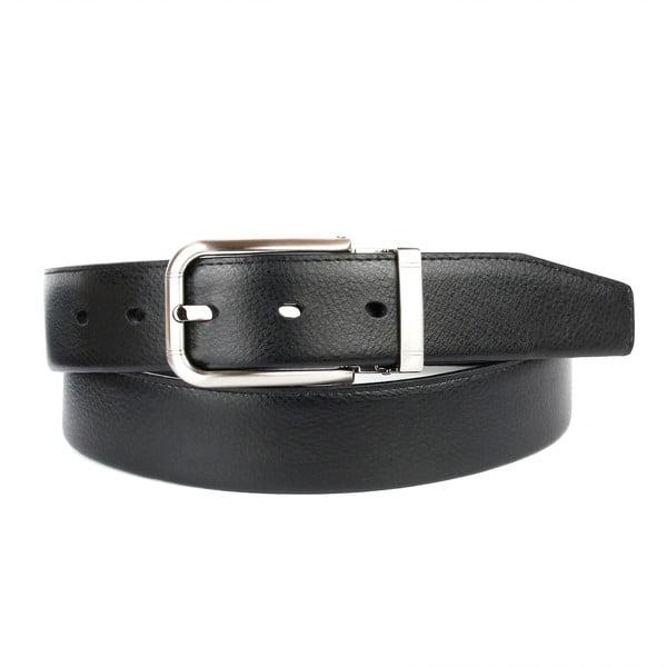 Pánský kožený pásek 1PTT10 Black, 100 cm
