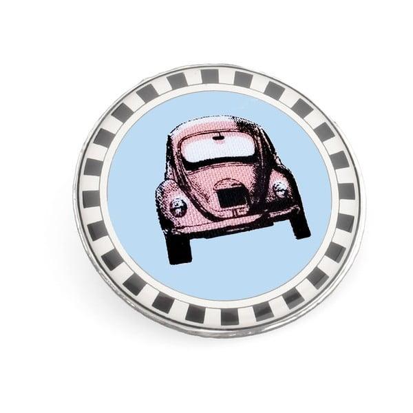 Brož Růžové autíčko v modré zóně od Lucie Markové