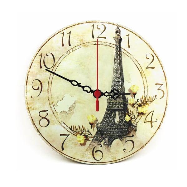 Nástěnné hodiny Eiffel Tower, 30 cm