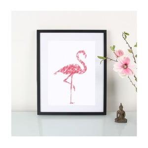 Plakát Crayon Flamingo, A3