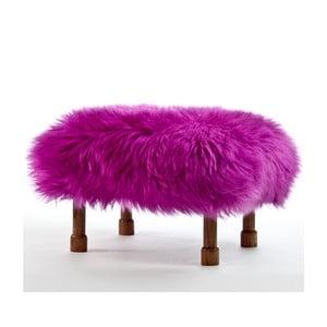 Stolička z ovčí kůže Delyth Cerise