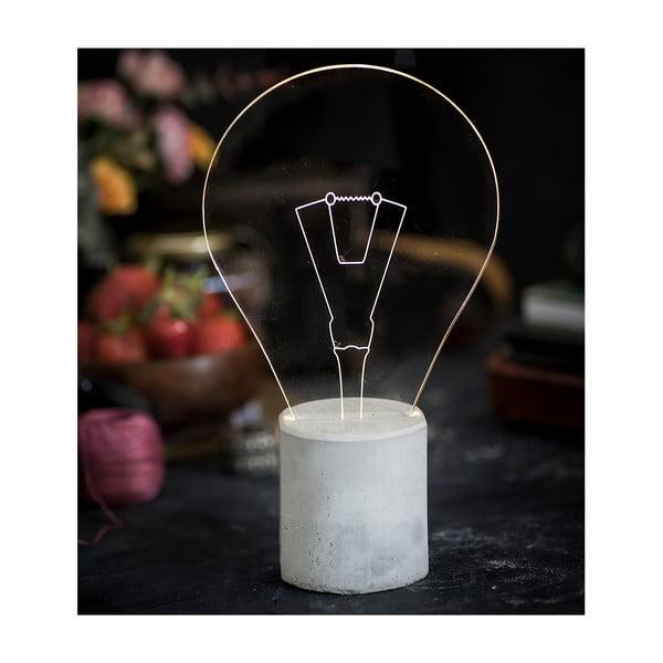 Náladové světlo Bulb, šedý podstavec