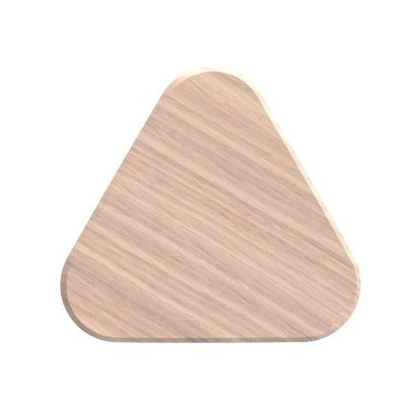 Nástěnný háček z dubového dřeva na kabáty HARTÔ Leonie, Ø 8 cm