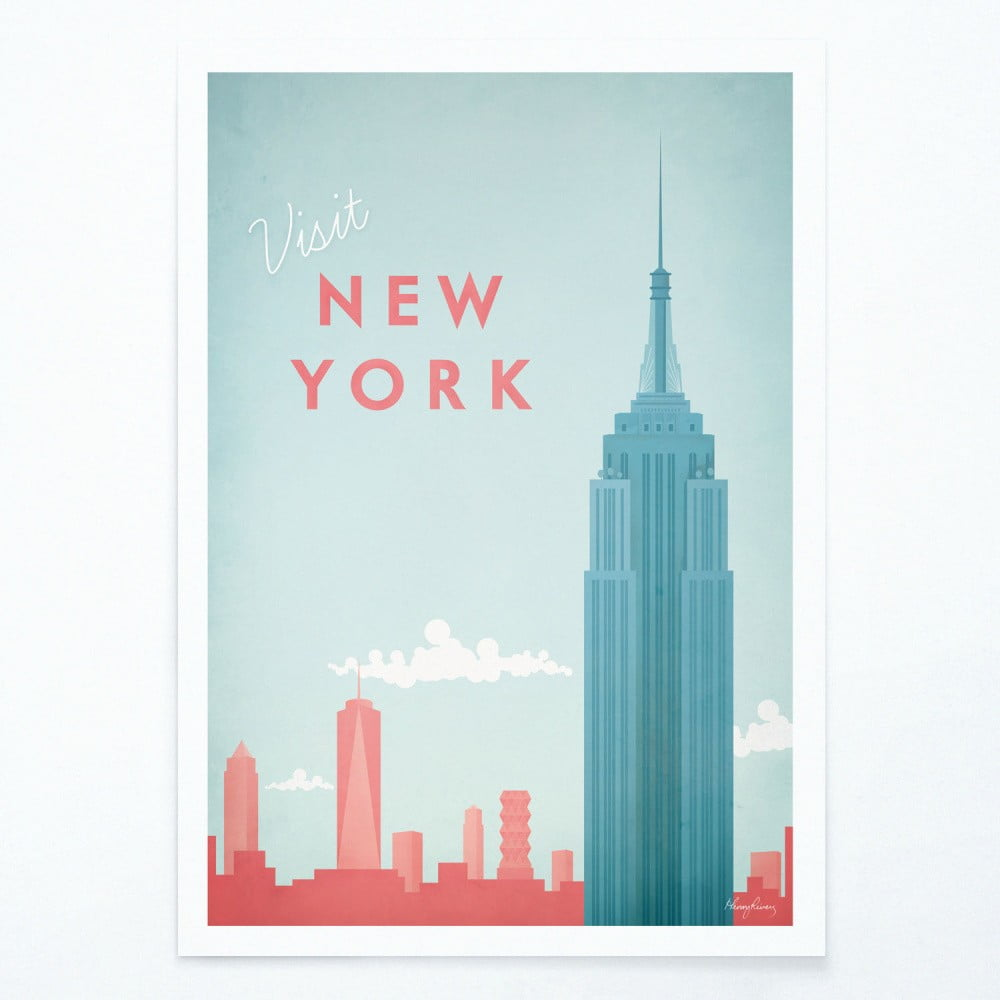 Plakát Travelposter New York A2