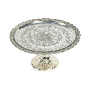 Servírovací talíř se stříbrnou patinou