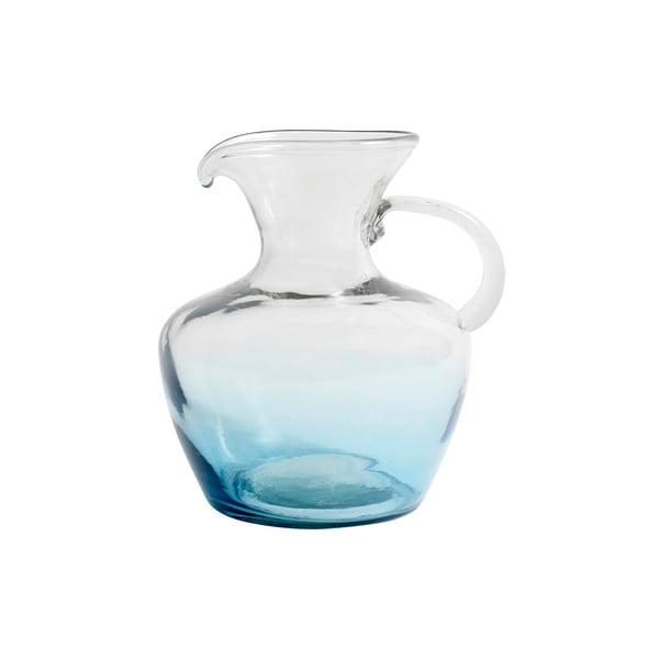 Modrá skleněná karafa Nordal Mexican Bubble