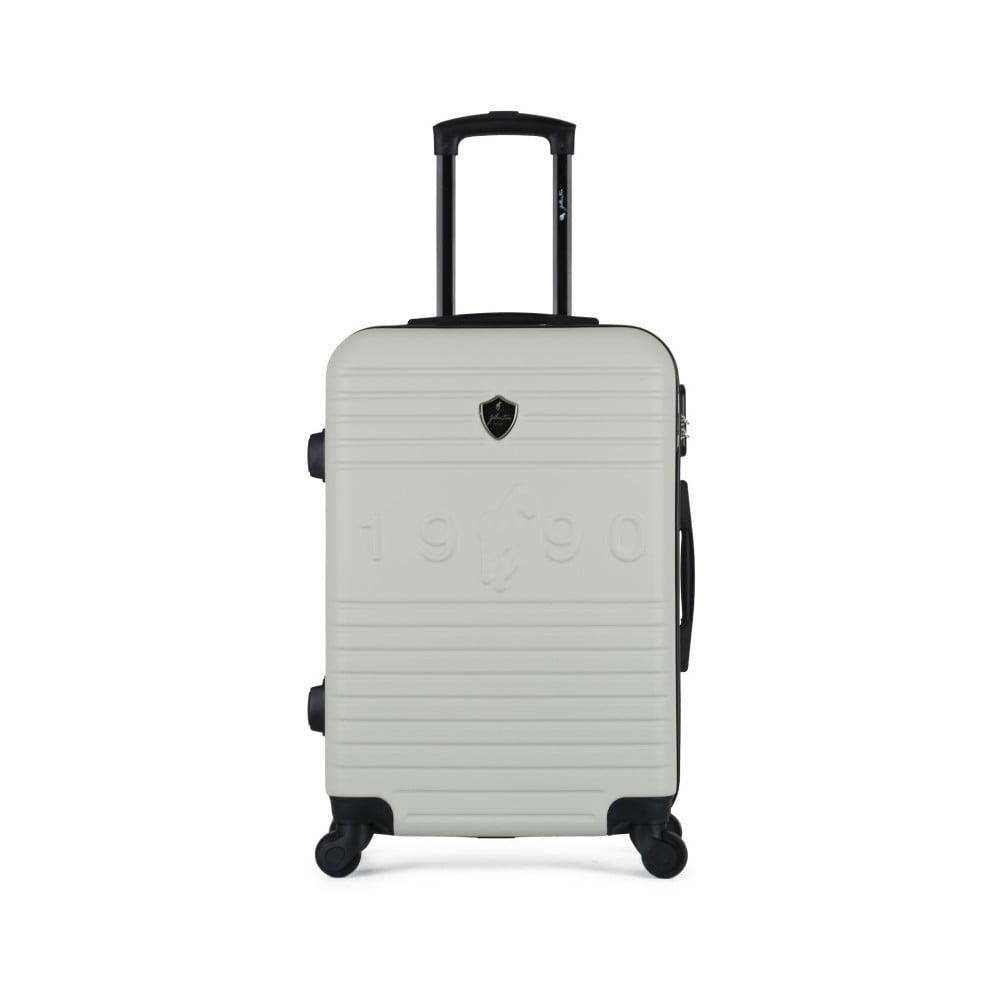 Béžový cestovní kufr na kolečkách GENTLEMAN FARMER Valise Grand Cadenas Integre, 45 x 65 cm