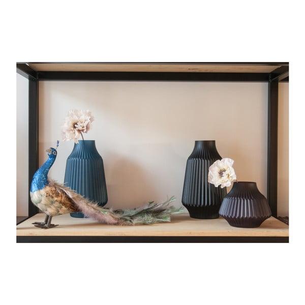 Černá skleněná váza PT LIVING, Ø 13,5 cm