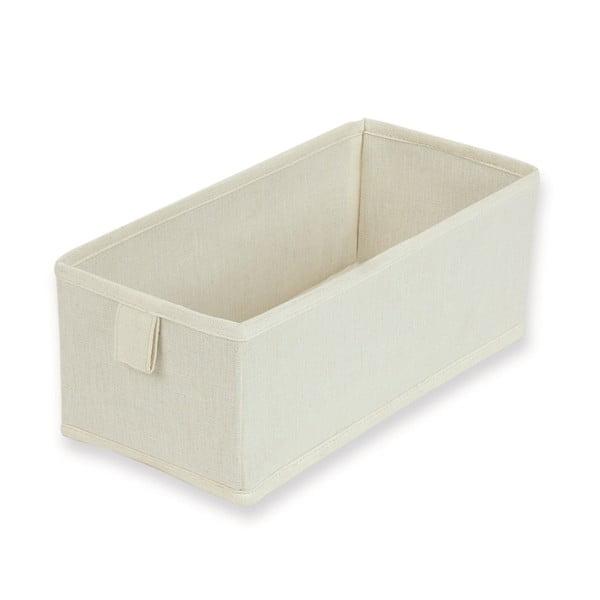 Sada 2 bílých textilních boxů JOCCA, 28x13cm