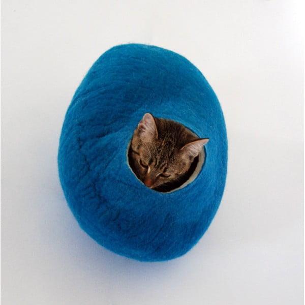 Plstěný pelíšek pro kočku Ulita blue