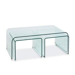 Skleněný konferenční stolek Priam