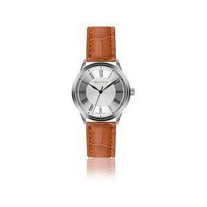 Pánské hodinky s hnědým páskem z pravé kůže Walter Bach Sunny