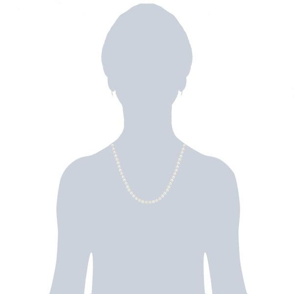 Perlový náhrdelník Muschel, bílé perly 6 mm, délka 50 cm